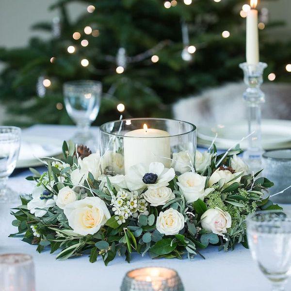 caja preparada para hacer ramos de flores y centros de mesa para bodas
